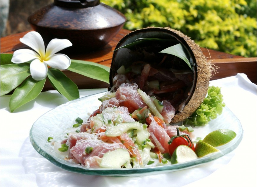 The Tahitian Raw Fish by Chef Teheiura